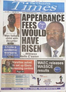 The Ghanaian Times vom 19.08.2014